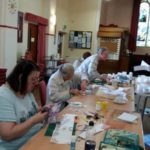 Some of Lancaster Embroiderers Guild hard at work